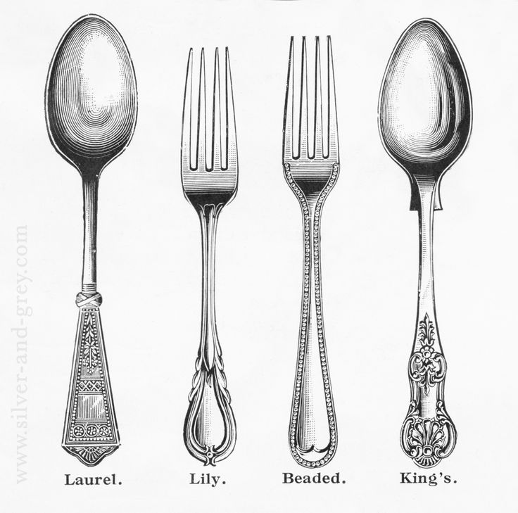Vintage spoons, graphic Free printable graphics I found in a vintage cutlery catalogue by retailers Buck  Moseley who had shops on the Strand and New Oxford Street. c. turn of the century (19th/20th)