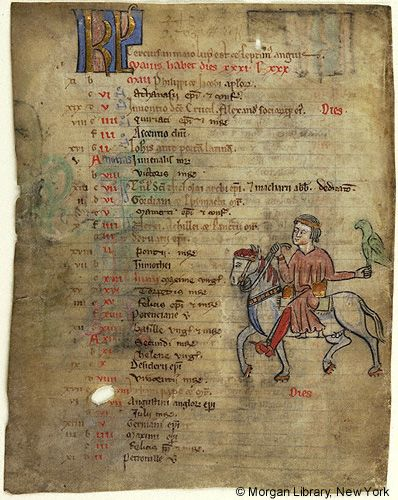 Church Calendar leaves, MS M.908.2 fol. 1v - Images from Medieval and Renaissance Manuscripts - The Morgan Library & Museum