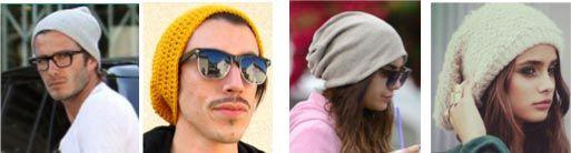 Jóvenes usando gorros hipster