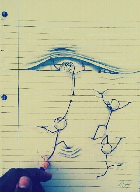 .Cool image on notebook paper. | doodle/drawing ...