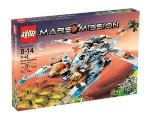 LEGO Mars Mission MX-81 Hypersonic Spacecraft by LEGO. $299.00. Includes a mining scout rover with quick-deployment platform, twin attack cruisers with swing-out wings, a mobile flying lab, and more. The MX-81 is five incredible vehicles in one with modular weapons and shooting function. Three astronaut minifigures and one glow-in-the-dark alien minifigure and a new commander alien are included. Detach the two small fighter aircrafts from the front to reveal a hidden la...