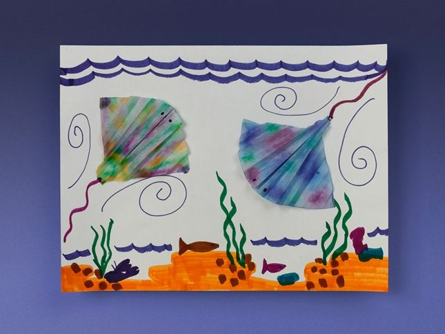 Tie-Dye Stingrays craft