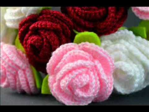 Crochet roses.                                                                                                                                                                                 Mais