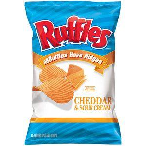 Ruffles Cheddar & Sour Cream Potato Chips, 8.5 oz