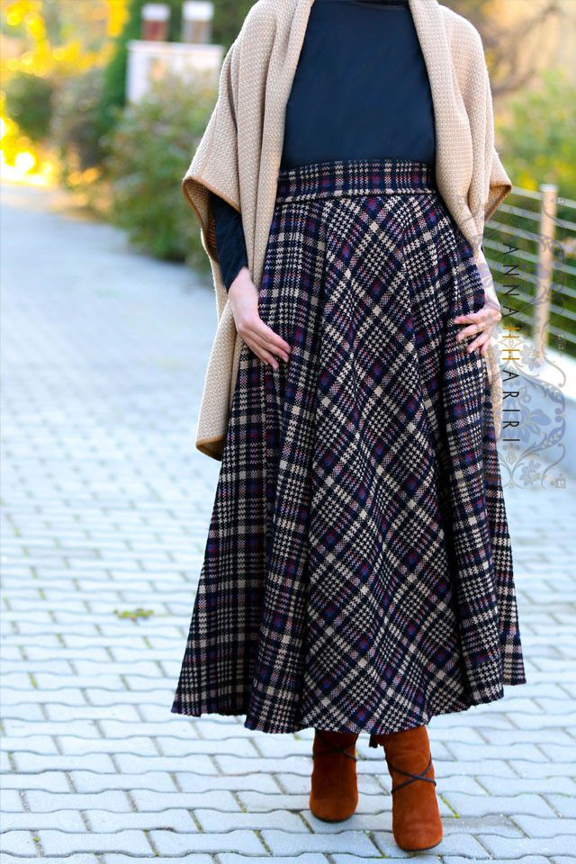 Plaid Maxi Skirt www.annahariri.com