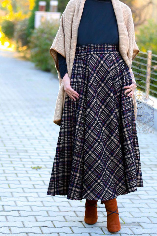 Plaid Maxi Skirt www.annahariri.com