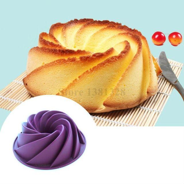 24.5*8.9 cm Grande Redemoinho Forma Manteiga Molde Do Bolo Do Silicone Acessórios de Cozinha Ferramentas de Cozimento Para Bolos Padaria Bakeware Molde