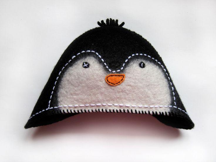 Sauna hat// Penguin hatt// Wool hat by MezaZivs on Etsy https://www.etsy.com/listing/253386174/sauna-hat-penguin-hatt-wool-hat