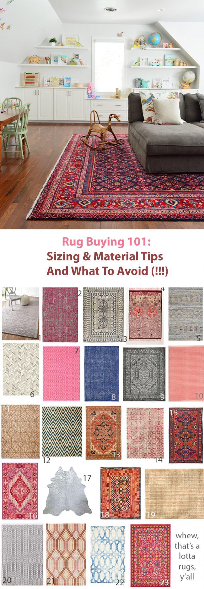 Young House Love   How We Shop For Rugs: What To Look For, How To Save Money, and Mistakes To Avoid   http://www.younghouselove.com