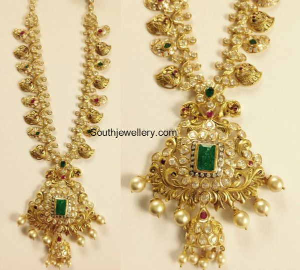 Vintage Solid 22 Carat Gold Necklace Earring Pair Set: 17 Best Images About Ancient Indian Jewellery On Pinterest