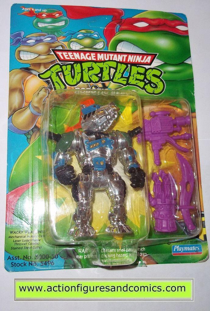 teenage mutant ninja turtles BEBOP ROBOTIC 1993 vintage playmates toys mib moc mip tmnt