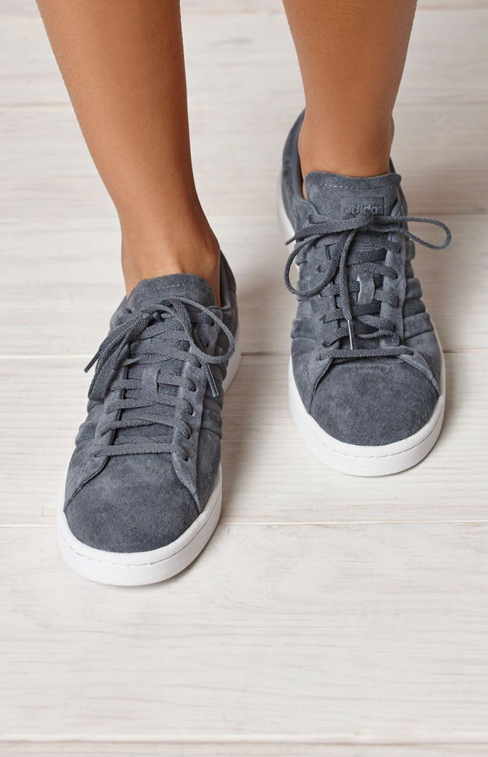 finest selection 9e1ae 70909 adidas Womens Gray Campus Stitch And Turn Sneakers at PacSun.com