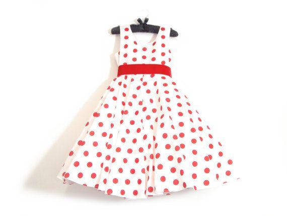 Polka Dot Bridesmaids Dress  Childs Custom Made  by AnnaandAlex, £105.00