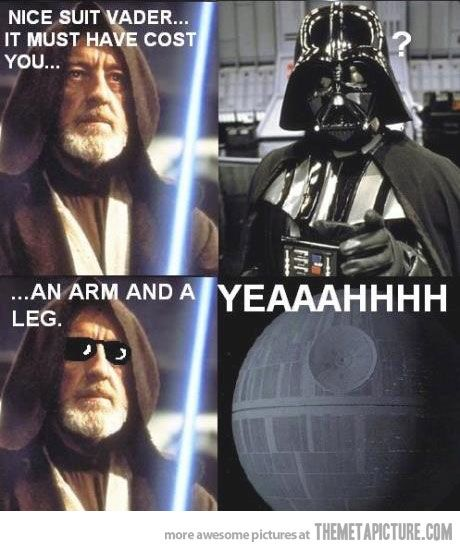 Nice suit, Vader