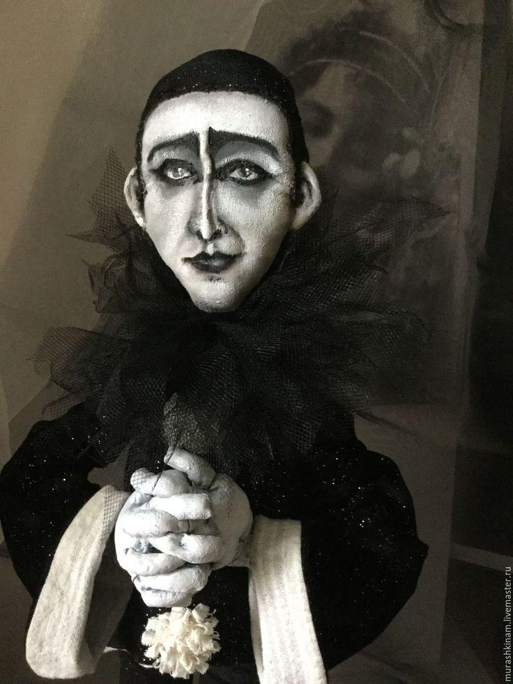 Купить Странствующий СРЕДИ МИРОВ. Интерьерная текстильная кукла. - чёрно-белый, коллекционная кукла