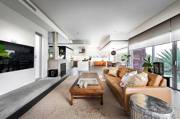 City Beach House By 4d Designs Homeadore Beach House Living Room House Living Design House interior designs australia