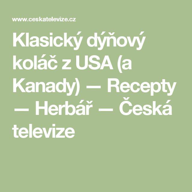 Klasický dýňový koláč zUSA (a Kanady) — Recepty — Herbář — Česká televize