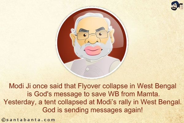 Modi Ji Once Said That Flyover Collapse In West Bengal Is God S