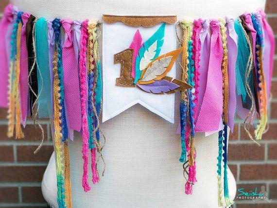 WILD ONE Birthday Banner, Pow Wow Birthday, Feather Banner, Tribal Highchair, Feather Highchair Bunting, Woodland  Birthday, Birthday Banner