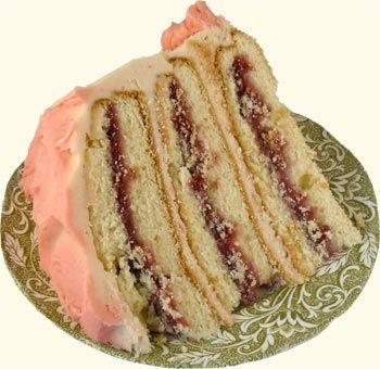 Traditional Irish Raspberry Vanilla Cake....great website for irish desserts!!