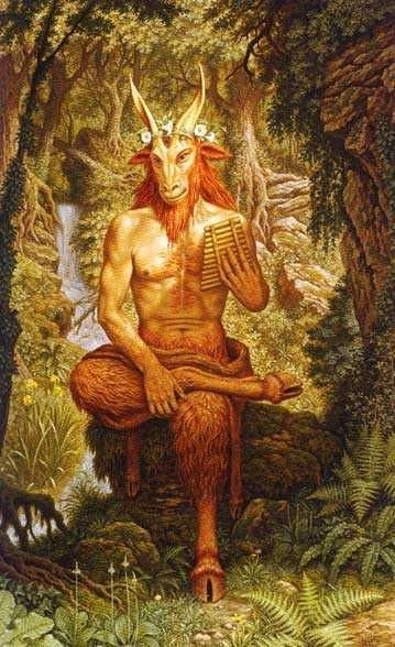 Pan -- Greek Pagan God the Wild. Pan is famous for his sexual powers, and is often depicted with a phallus.