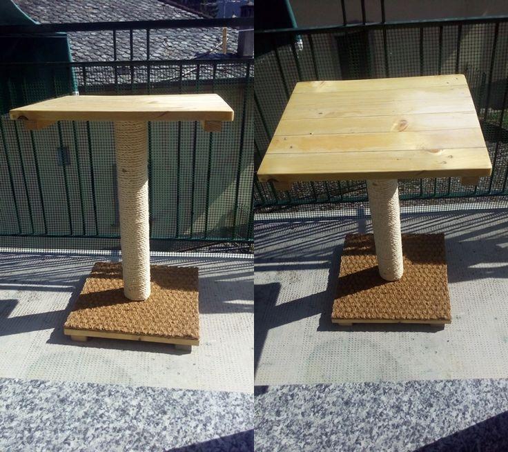 Tavolino da Balcone con tiragraffi x gatti
