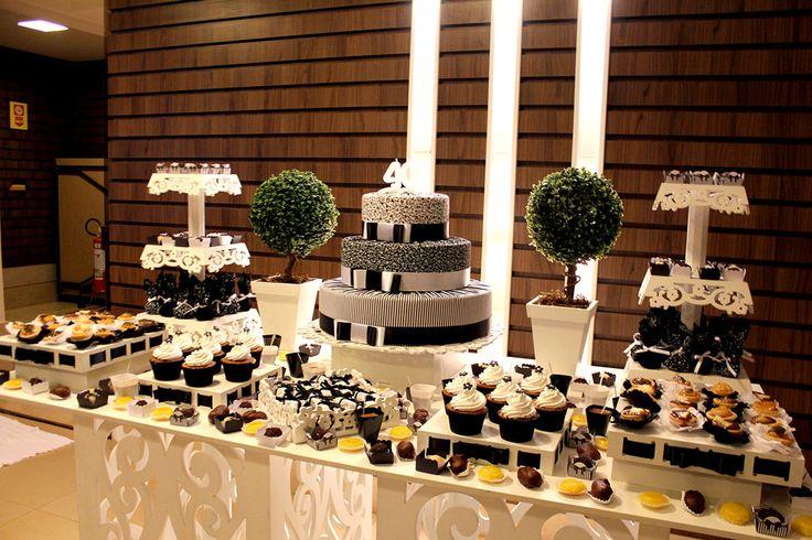 decoração festa preto e branco -vestido - Pesquisa Google