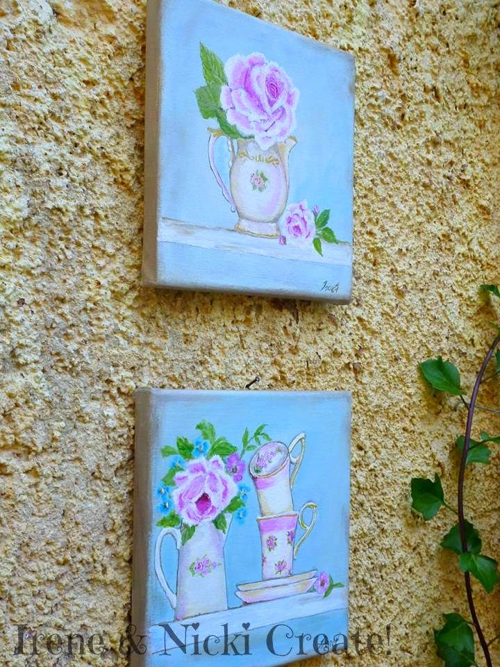 Irene & Nicki Create!  :                   Shabby Chic Canvas Wall Art     ...