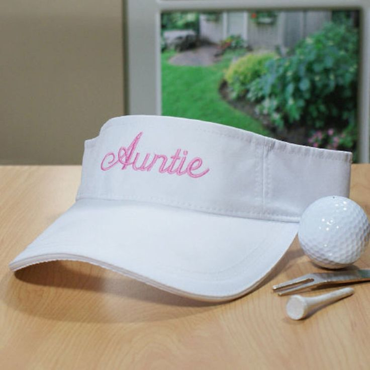 Personalized Embroidered Woman's Visor - Gifts Happen Here