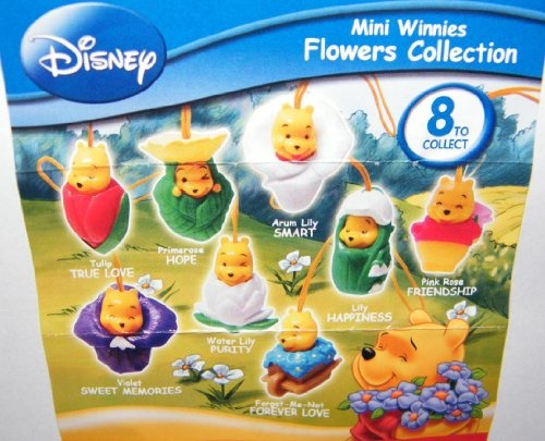 Winnie the Pooh Peek a Pooh Figure Set Flowers Collection Series 21