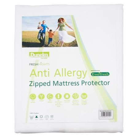 Available In A Choice Of Sizes This Cotton Zipped Mattress Protector Features Anti Allergy Properties Is Machine Washable And Fits Mattresses Up To