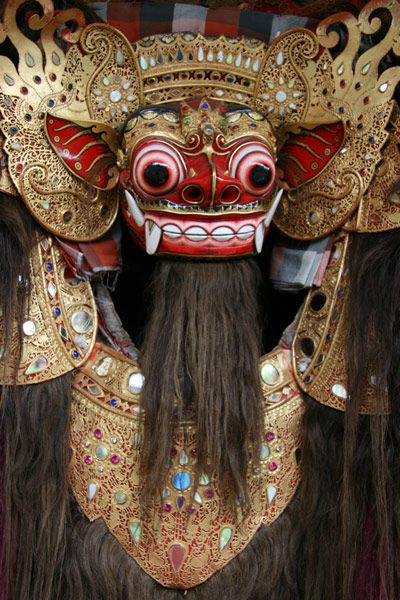 Ritual Balinese Mask used during Hindu ceremonies