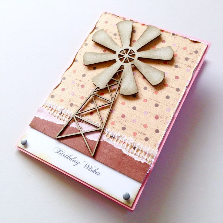 Windmill scrapbooking card! Made by Pammypumpkin!