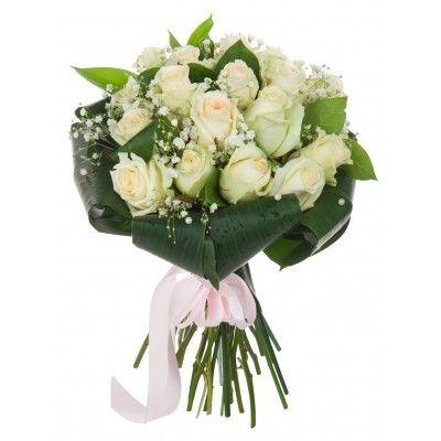Букет невесты из роз с бесплатной доставкой в Москве http://www.dostavka-tsvetov.com/buket-nevesty/buket-18