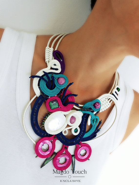 Check out this item in my Etsy shop https://www.etsy.com/listing/484186623/ooak-statement-soutache-necklace-modern