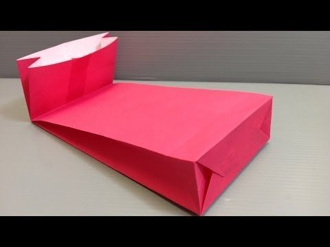 How to Make an Origami Gift Bag with a Gusset for Holidays - YouTube