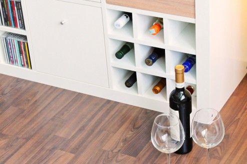 Expedit Regal Flaschen Einsatz weiß