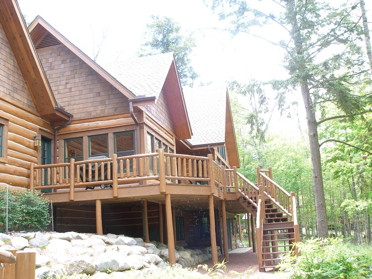 26 best images about ntb hand scribed log lake home in Northern wisconsin home builders