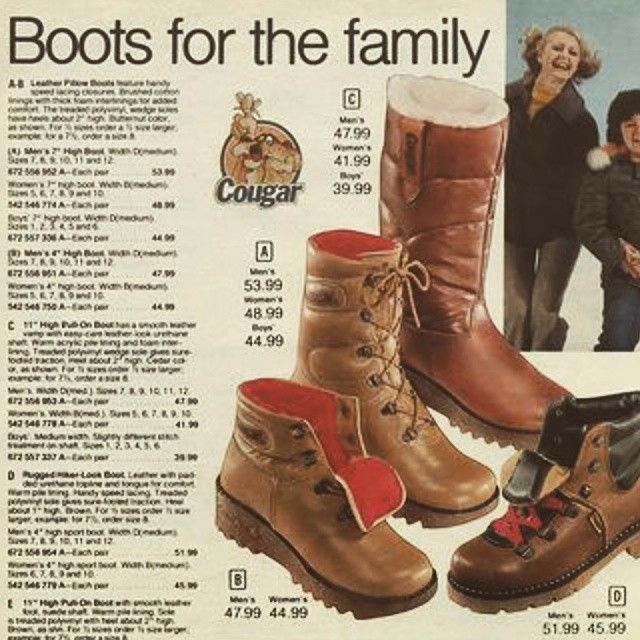 """Boots for the whole family! ‪#‎TBT‬"""