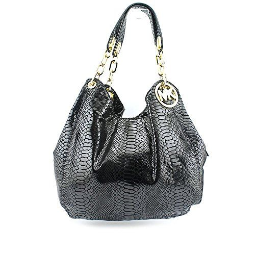 top handle bags: MICHAEL Michael Kors Fulton Large Shoulder Tote in Black