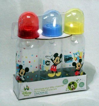 Disney Baby 3pack 9oz Bottle Set Mickey Mouse BPA Free 0 Months Medium Flow >>> Check out the image by visiting the link.Note:It is affiliate link to Amazon.