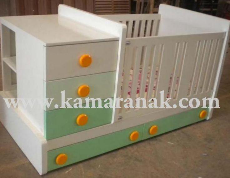 Jual Box Bayi Kayu Minimalis murah bahan mahony finshing duco dengan model laci,konstruksi kuat aman untuk bayi.ranjang bayi terbaru 2015 tempat tidur bayi