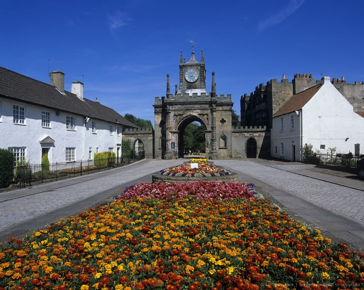 The gateway to Auckland Park in Bishop Auckland. Bishop Auckland is a market town in County Durham in North East England.