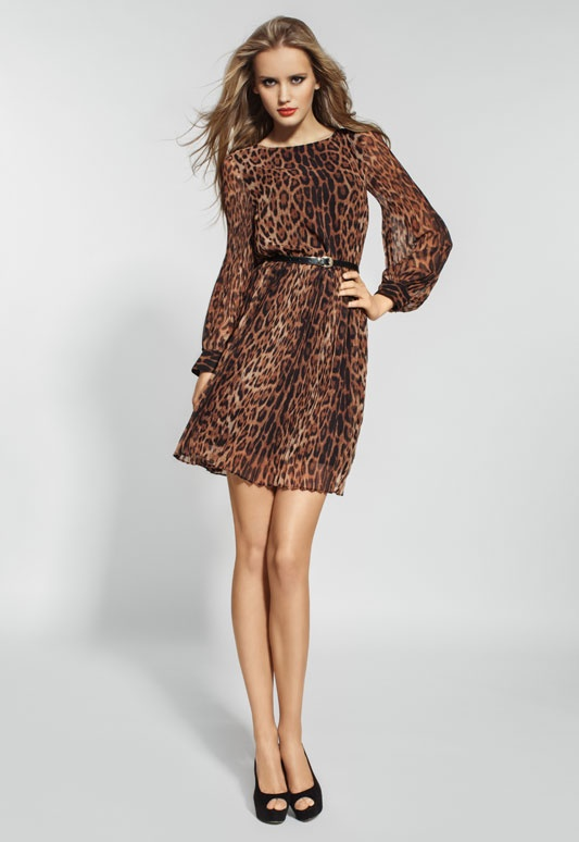 Платье летний леопард