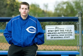 Capital High School sophomore Cade Quickle has found a home at Sam Carpenter Field.