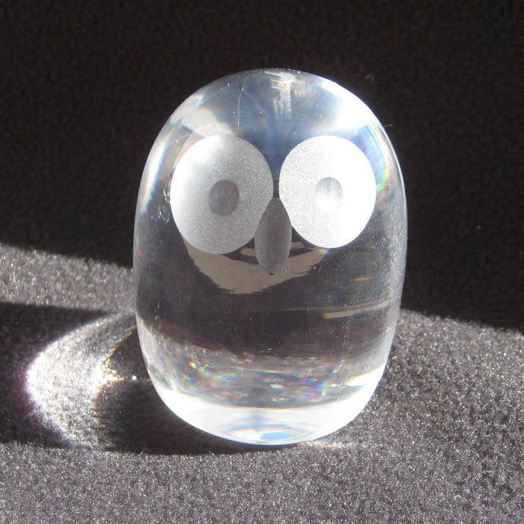 Hadeland Norway Pasco Design Art Glass Wide Eyed Owl Paperweight Vintage | eBay