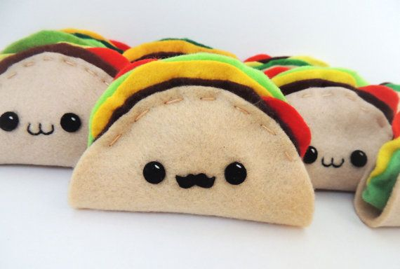 Hey, I found this really awesome Etsy listing at https://www.etsy.com/listing/217150240/felt-kawaii-taco-plush