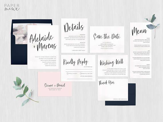 131 best printed wedding invitations images on pinterest