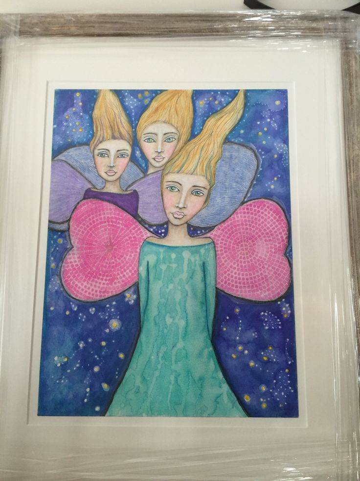 Drawn for a family who lost their three daughters in a farm accident by Kat Gale