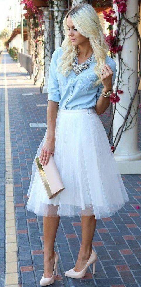 La falda de tul, tendencia para todo tipo de figura